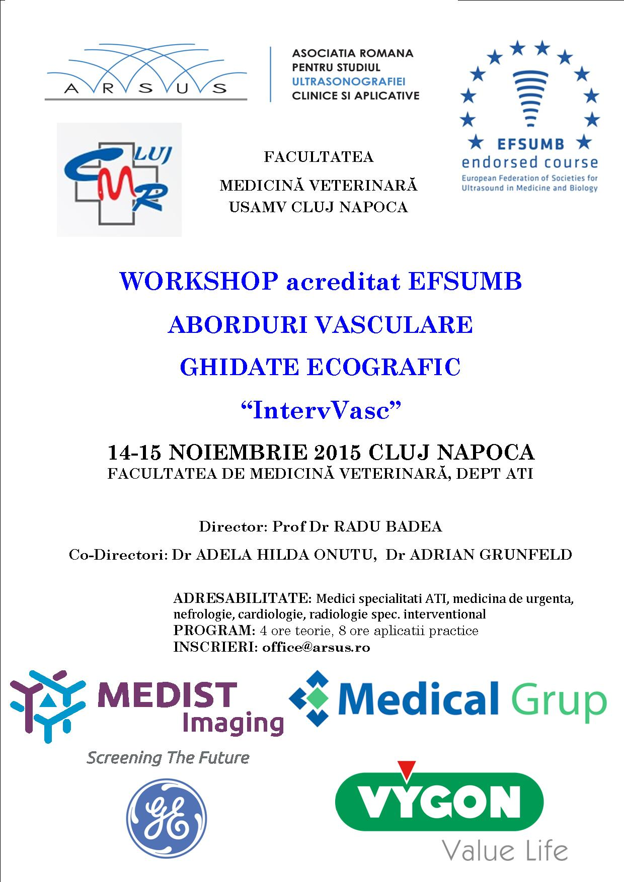 afis Workshop IntervVasc Cluj 14-15.11.15